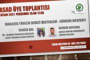 KASAD Üye Toplantısı   29 Nisan 2021, 15:00-17:00 Online